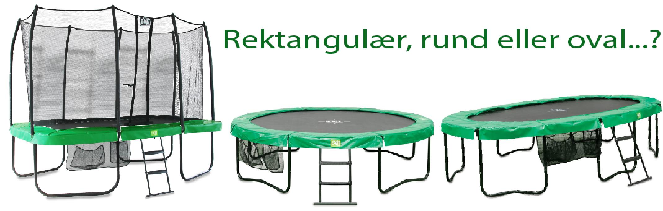 Fantastisk Firkantet, oval eller rund trampoline – hva skal du velge? | KL-23